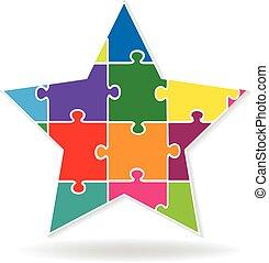 logo, zagadka, gwiazda