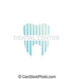 logo, zahnarzt, vektor, dental, zentrieren, stomatology