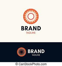 logo, zonneschijn