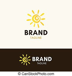 logo, zonnig