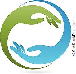 Logo, Zwei Hände