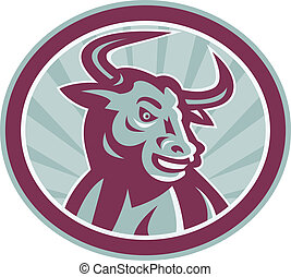 logo_bull_longhorn_frontiso - Illustration of an angry...