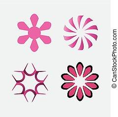 logos, bedrijf, set