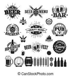 logos, birra, etichetta