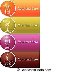 logos, différent, texte, boisson, endroit, ton