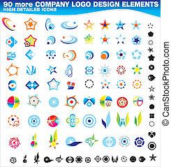 logos, ditta, collezione, disegno, 90, più