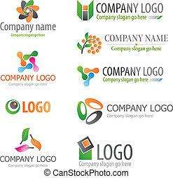 Logos - Set of abstract logos
