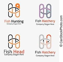 logos, fish, chasse