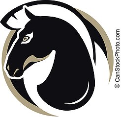 horse head sign - logos horse head sign stylized black and...