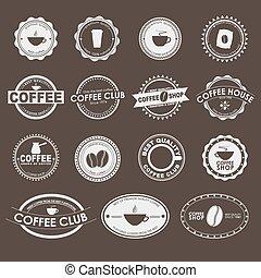 logos, koffie stel, ouderwetse