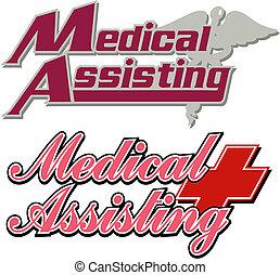 logos, medico, assistere