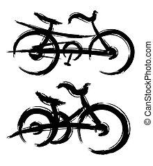 Logos of bicycles.