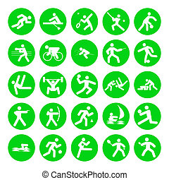 logos of sports, olympic games, on white background
