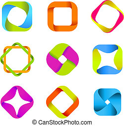 logos, quad-loops, zbiór
