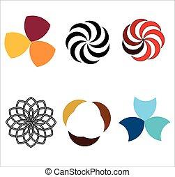 logos, rotazione, spirale, movimento