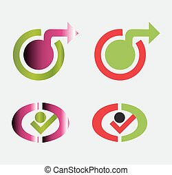 logos, sæt, skabelon, element