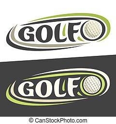 logos, sport, golf, vettore