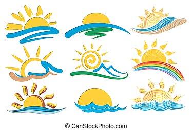 Logos sun and sea.