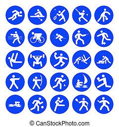 logos, van, sporten