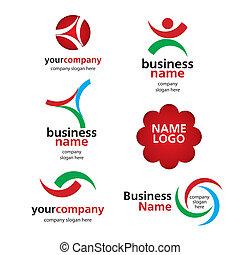 logos, vecteur, collection, spektorny