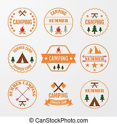 logos, vecteur, ensemble, illustration