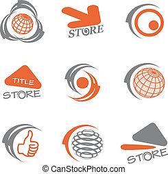 logos, vector, set
