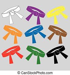 logosport karate black belt - Karate fighters collection