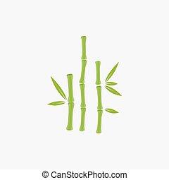 logotipo, árvore bambu
