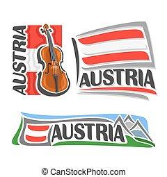 logotipo, áustria, vetorial