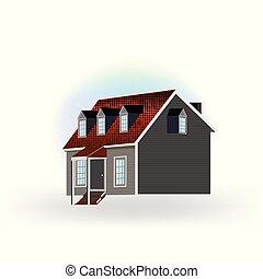 logotipo, ícone, casa