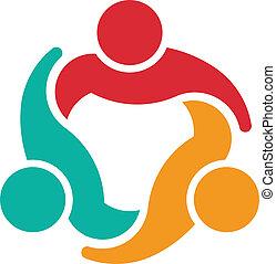 logotipo, 3, conselho, equipe