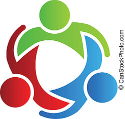 logotipo, 3, disegno, partner affari