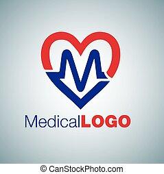 logotipo, 3 médicos