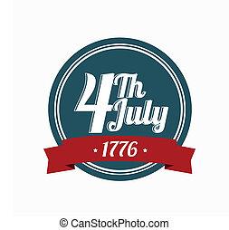 logotipo, 4 julho