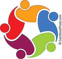 logotipo, 5, comunidade, social