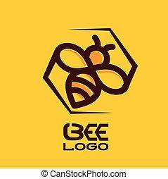 logotipo, abeja