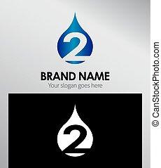 logotipo, abstratos, 2, número, ícones