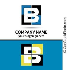 logotipo, abstratos, b, letra, ícone