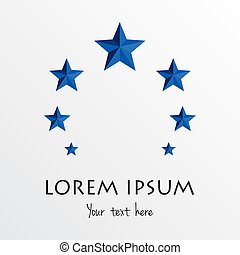logotipo, abstratos, círculo, estrelas, templ