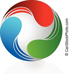 logotipo, abstratos, dinamic, negócio