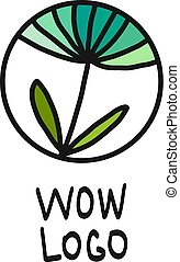 logotipo, abstratos, flor