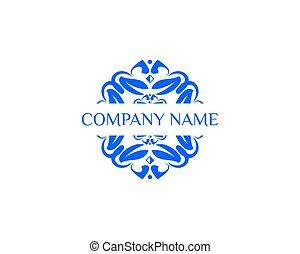 logotipo, abstratos, flor, modelo