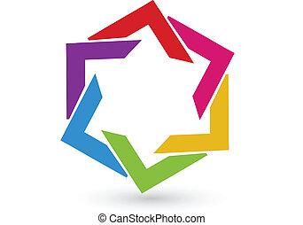 logotipo, abstratos, identidade, cartão, ícone