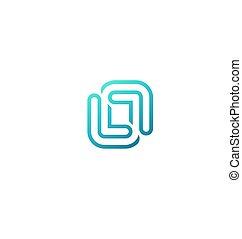 logotipo, abstratos, negócio