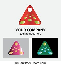 logotipo, abstratos, triangulo, negócio
