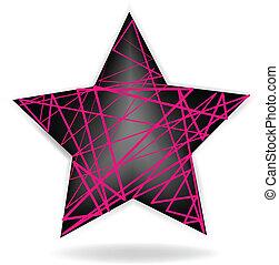 logotipo, abstratos, vetorial, estrela, ícone