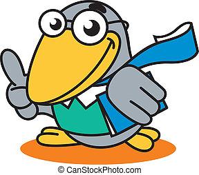 logotipo, accademico, corvo