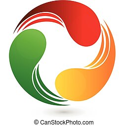logotipo, affari, swooshes