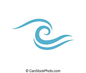logotipo, agua, plantilla, onda