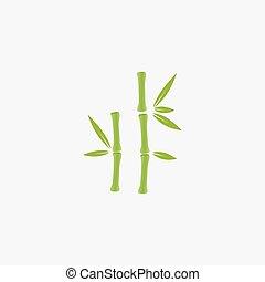logotipo, albero bambù